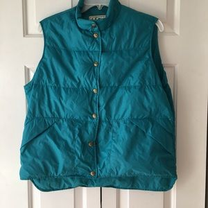 Vintage down LL Bean puffer vest medium blue